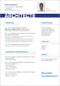 modele cv architecte