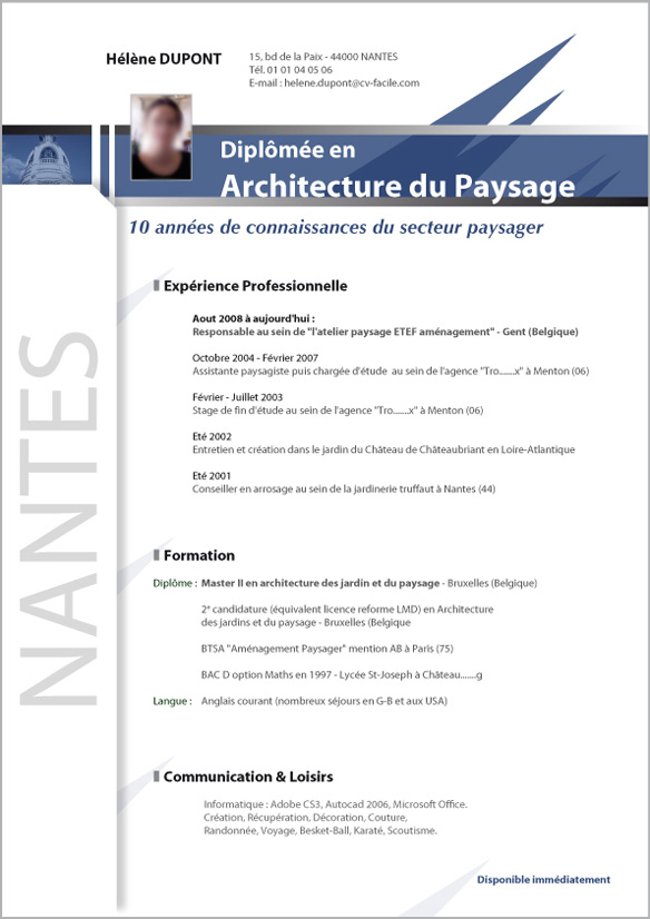 exemple cv architecte informatique