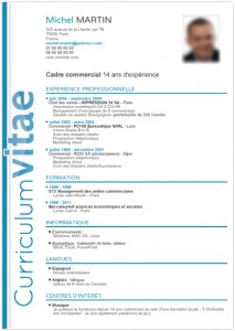 modele cv cadre commercial