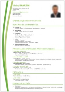 modele cv chef projet internet